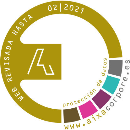 Aixa Corpore Web certification seal. Complies with Data Protection regulations.